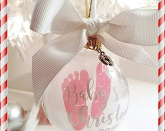 Baby's First Christmas/Baby Ornaments/ Baby Boy/Baby Girl.