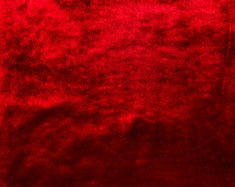 McAlister Textiles Metallic Shiny Crushed Velvet Look Fabric by the Metre, Half Metre & Sampler Swatches - Wine Red