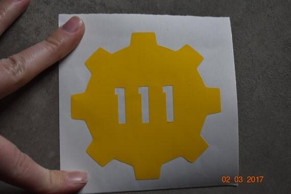 Fallout Vault Door fallout vault 111 emblem vault door vinyl bumper stickers.