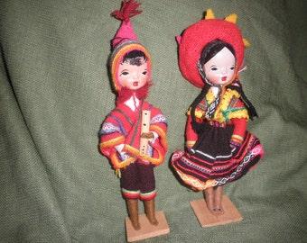 Doll from Peru Handmade Doll with Folk Art Cloth