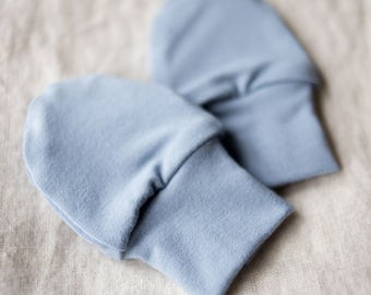 SALE! Bamboo Newborn Anti Scratch Baby Mittens / Newborn Hand Mitts