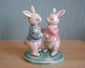 Vintage Rabbit figurine Courting Couple