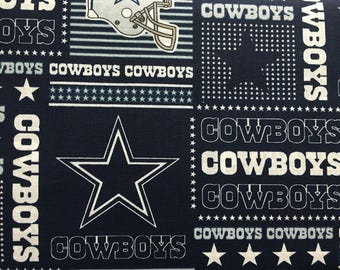 """DALLAS COWBOYS nfl 60"""" Cotton Fabric By The Yard All Over Patchwork Print Fabric Traditions"""