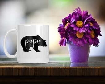 Papa Bear Coffee Mug - Pappa Bear - Custom Coffee Cup - Custom Coffee Mug