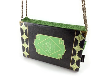 "The Great Gatsby evening bag, F. Scott Fitzgerald, Gatsby clutch, Gatsby purse, Art deco bag, ""I like large parties. They're so intimate"""