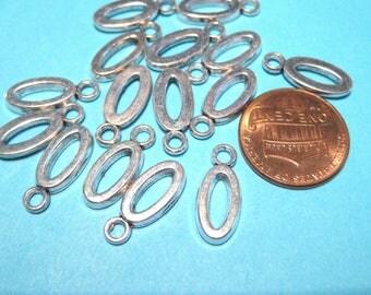 "Antique Silver Letter"" O"" Charms Pendants"