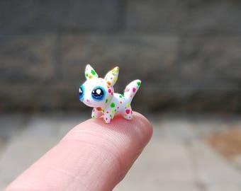Itty bitty kitty, teeny tiny kitty, neon kitty, tiny, miniature kitty, miniatures, tiny, colorful, art kitty, miniature, kitten, neon
