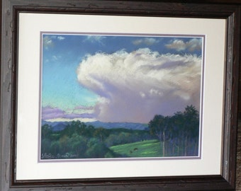 EVENING THUNDERHEAD Over COMBOYNE - original pastel painting.