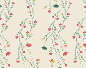 Fabric - Art gallery -  Garden Dreamer Climbing Posies Pale - cotton jersey