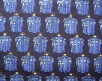 Fabric - Jersey fabric - Dr Who Tardis print knit - Cotton/elastane