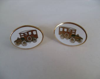SALE Avon Car cuff links, vintage Antique car cufflinks, men's accessories, gifts for men, Gingerslittlegems