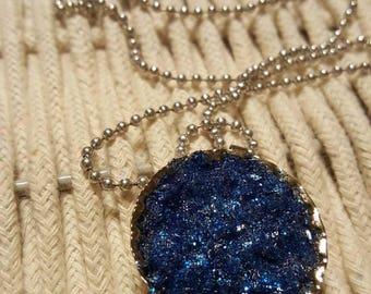 Dark blue faux druzy