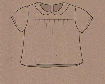 Edie Blouse & Shirtdress - Two Stitches Patterns