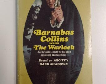 Dark Shadows Barnabas Collins versus the Warlock by Marilyn Ross Paperback Library 1969 Vintage Horror TV Tie-In