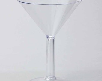Plastic Large Martini Glass Disposable Cup, 9-Inch