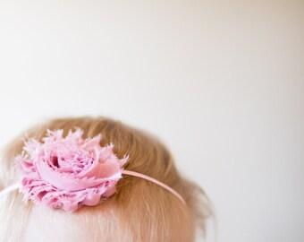 Mauve Headband| First Birthday Girl Headband/ Baby Girl Mauve Headband/ Mauve Flower Headband