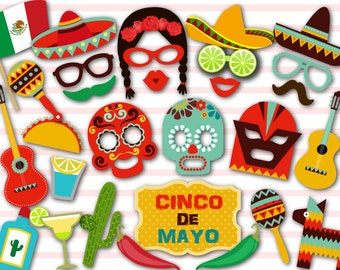Instant Download Cinco de Mayo Photobooth Props Mexican Fiesta Photo Booth Props Mexican Party DIY or Mexican Celebration 0209
