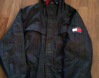Vintage Tommy Hilfiger plaid anorak jacket