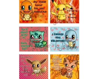 Pokemon Valentine | Etsy