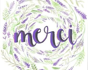 Thank you card- Merci