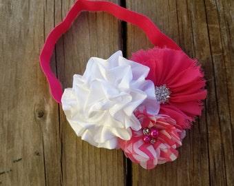 Hair Accessory, Girls Accessory, Baby Headband, Flower Headband, Spring Flower, Valentine's Day, Pearls, Baby Headband, Flower Hair Clip