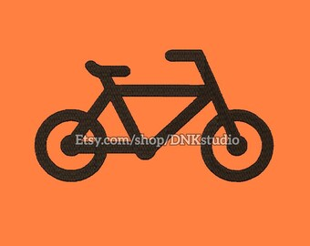 Bicycle Bike Machine Embroidery Design - 7 Sizes - INSTANT DOWNLOAD