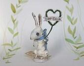 Easter Spun cotton rabbit ornament