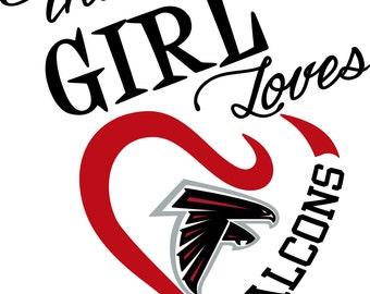 This Girl Loves Atlanta Falcons SVG File!