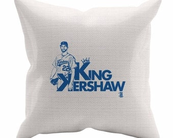 Clayton Kershaw Shadow B Los Angeles D Decorative Pillow MLBPA Officially Licensed