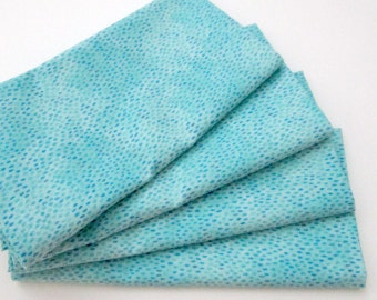 Large Cloth Napkins - Set of 4 - Turquoise Blue Tiny Raindrops  - Dinner, Table, Everyday, Wedding