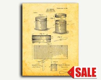 Patent Art - Sheet-metal Can Patent Wall Art Print