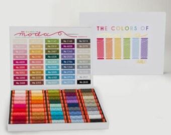 The Colors of Moda Aurifil Thread Collection 45 Spools 50 wt thread