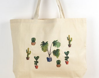 Cactus Tote Bag   Botanical, Cacti, Urban Jungle Bloggers, Valentines Gift,  Indoor