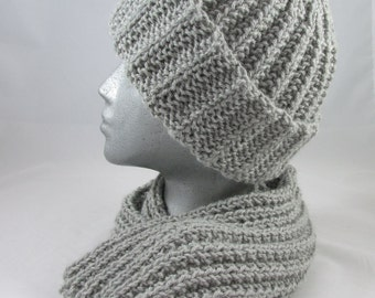 Alpaca and Wool Hat and Scarf Set