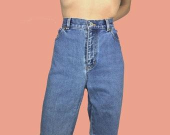 Vintage Ralph Lauren Jeans~Waist 30~Size 6~90s High Waisted Medium Wash Blue Denim Pants~By Lauren Jeans Co.