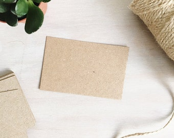 Blank Kraft Business Cards | Brown Recycled Kraft Card - Blank Business Cards - UK Business Card