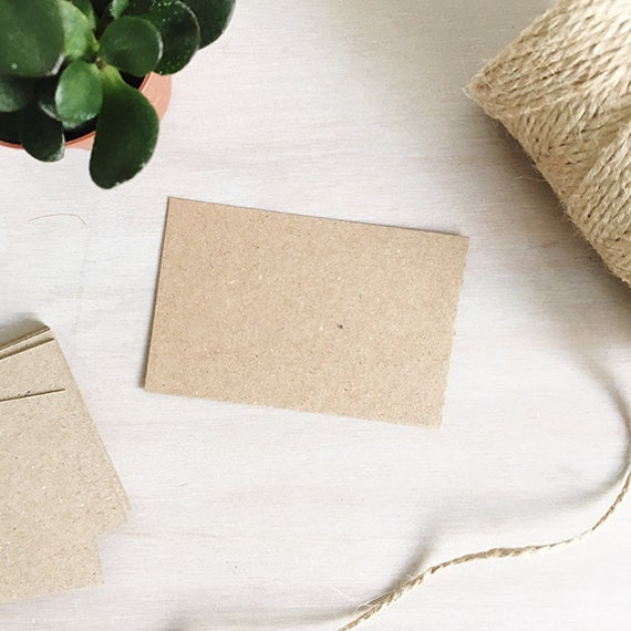 Blank kraft business cards brown recycled kraft card blank like this item reheart Gallery