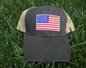 USA Flag Mesh Trucker Hat