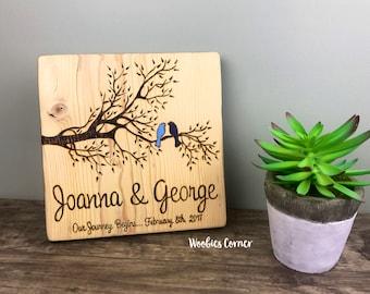 Wedding Shower gift, Custom wedding sign, Wood family sign, Wood burned sign, Custom wood sign, Rustic home decor, Name sign wedding