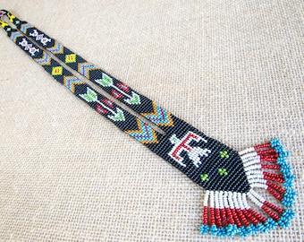 Native American Jewelry - Navajo Beaded Necklace - Gift For Boho Girl - Tribal Jewelry - American Indian Jewelry - Southwestestern Jewelry