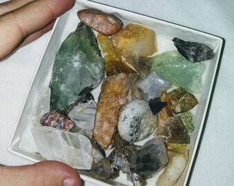 Raw stones collection in a box special destash