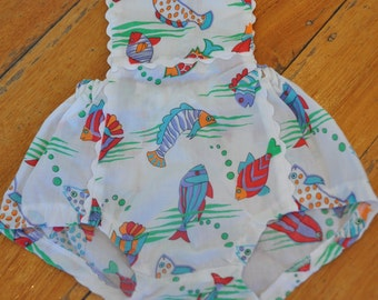Gorgeous Handmade Fish Overalls, size 1