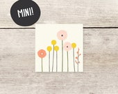 MINI! Billy buttons + spring flowers mini card or gift tag