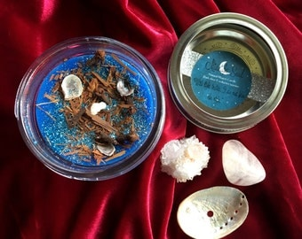 Midnight Soul Organic Beeswax Candle, Jasmine Clove Beeswax Candle, Herb Candle, Glitter Candle