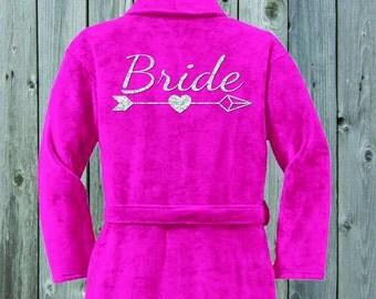 Bridal Robe Plush Terrycloth