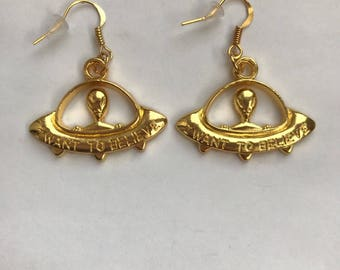 The I want to believe earrings