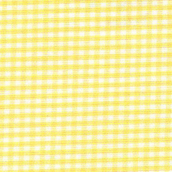 Yellow Check Fabric, Fabric Finders, Yellow Gingham Fabric – 1/16″  100% cotton gingham
