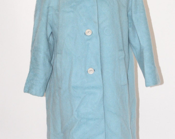 Vintage Estate Rare Risse Blue Coat Exclusive Fabric by Stroock