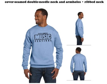 Custom Printed Crew Neck Sweatshirts