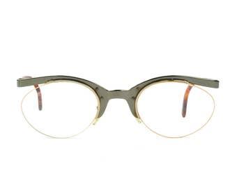 Club LA 8607 Womens Semi Rimless Oval Cat Eye Unique Statement Glasses 90s Italy